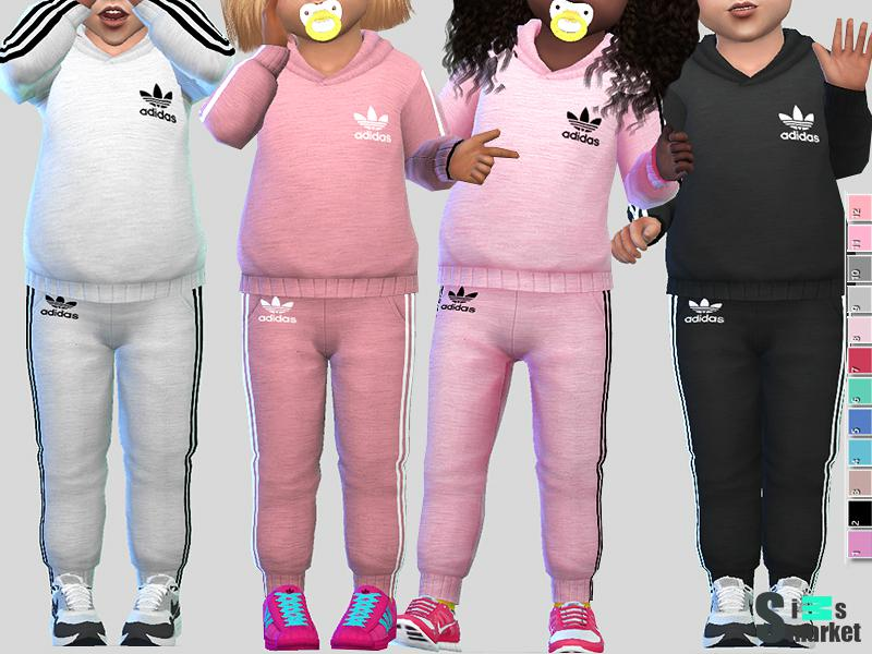 8f55a183 Мод для Sims 4 - костюмы Adidas для маленьких девочек, имеется много  расцветок.