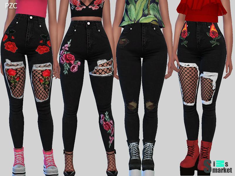 моды симс 4 джинсы женские